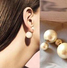 2014 Fashion Colorful Simulated Double Pearl Earrings Pearl Stud Earrings