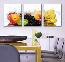 Hot Sale Fruits in Water Picture Print Canvas Home Wall Decor Art HD 3Pcs #0664