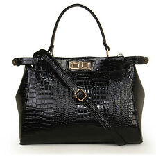 New Women Crocodile Leather like Handbags All-match One Shoulder Cross-body Bag