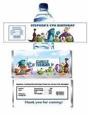 10 MONSTER UNIVERSITY CANDY WRAPPERS OR WATTER BOTTLE LABELS