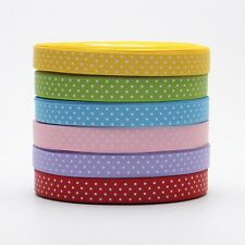 "NEW~5/10/20/50 yds 5/8"" 15 mm Grosgrain Ribbon Printed lots polka dots U PICK"