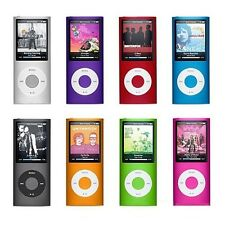 "16GB Slim 4th Mp3 Mp4 Player 1.8""LCD Screen FM Radio Video Games & Movie 8Colors"