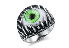 Men's domineering personality exaggerated eye wide titanium steel ring