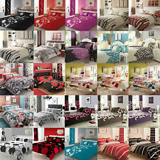 4Pcs Complete Bed Linen Set Duvet Quilt Cover+Fitted Sheet+Pillow Cases Bed Set