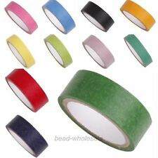 5M/1Roll 15mm Wide Paper Craft  Pure Color Japanese Washi Tape Decorative DIY
