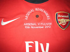2012-14 Arsenal 2012 Poppy Remembrance (v Fulham) Home Long-Sleeve Replica Shirt