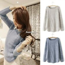 Fashion Women Sweater Long Sleeve Loose Knitted Casual Coat Knitwear Pullover