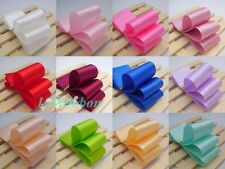 25 Yards Various Width Satin Ribbon Roll Bow Wedding Party Craft Decorations