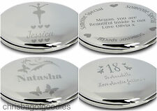 PERSONALISED ENGRAVED Handbag Compact MIRROR Gifts Birthday Present for Ladies