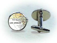 Vintage Map of US Cities Cufflinks: Dallas, Los Angeles, Kansas City, St Louis