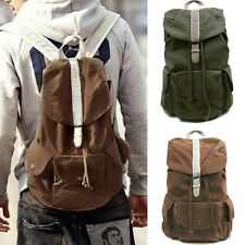 SALE~Vintage Canvas Unisex Hiking Daypack Shoulders Rucksack Satchel Bag Bookbag