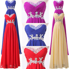 HOT CHEAP Long Chiffon Formal Evening Party Gown Prom Bridesmaid Wedding Dresses