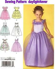 Formal Flower Girl Pageant Dress Pattern 2463 Simplicity NEW Princess Costume