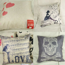 1 Pc Square 4 Designs Pillow Cases Simple Style Decorative Cushion Covers 16.54""