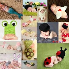 Newborn Baby 0-6M Crochet Knit Clothes Playsuit Costume Photography Prop Outfits