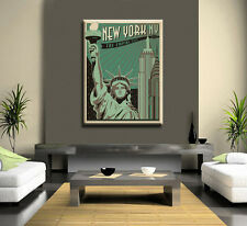 NEW YORK RETRO CANVAS WALL ART
