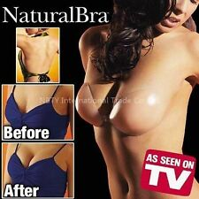 NaturalBra Backless Strapless Silicone Gel Bra Sz A B C Reusable Black w/ Video