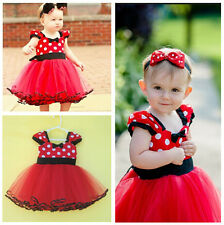 New Girl Kids Toddler Newborn Baby Party Polka Dot Dresses Layered Tutu Clothing