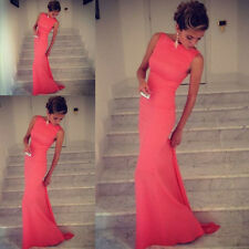 Hot Sexy Women Sleeveless Prom Ball Cocktail Party Dress Formal Evening Gown