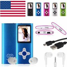 "8GB Slim Digital MP3 MP4 Player 1.8"" LCD Screen FM Radio, Video, Games & Movie"