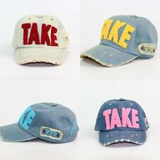Kid Cool Baby Hole Style Cotton Washed Denim Baseball Visor Hat Unisex Caps