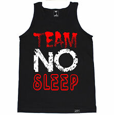 TEAM NO SLEEP RED RAVE DANCE MUSIC HOUSE ELECTRO MUSIC PARTY HARD TANK TOP