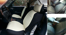 MERCEDES SL & SLC R107 & C107 LEATHERETTE & SYNTHETIC TWO FRONT CAR SEAT COVERS