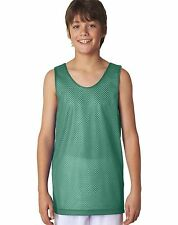 A4 New Youth Boys Reversible Dri-Fit Mesh Tank Top Basketball Jersey S-XL N2206