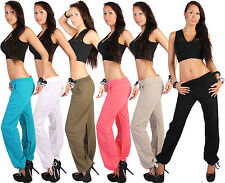 B1 Linen Pants Harem Aladin Pump Sport Linen Pants Ladies Jogging US 6-12