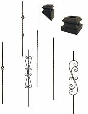 Iron balusters Iron spindles METAL stair parts basket,twist,scroll SATIN BLACK