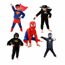 Kids Boys Spider-Man Superman Batman Zorro Halloween Costume Party Cosplay Suit
