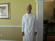 """Unisex Cotton Blend White Medline Snap front w/ cuff Length 40"""" for 8.00ea."""