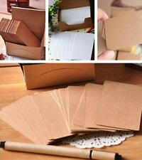 FA US 100 Blank Kraft Paper Hang Tags Wedding Party Favor Label Price Gift Cards