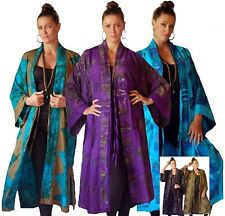 @H736 JACKET KIMONO LONG TIES BALI BATIK COMB RAYON ELEGANT STYLE MADE TO ORDER