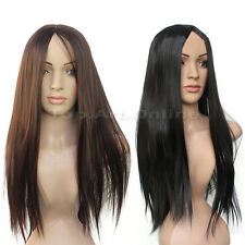Hot Sale Women's Fashion Party Cosplay Long Straight Synthetic Full Hair Wig