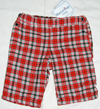 NWT Hartstrings Baby Infant Boys Lined Christmas Red Plaid Dress Pants FREE SHIP