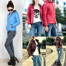 Chic Ladies Women Winter Outerwear Hooded Casual Solid Slim Down Jacket Overcoat