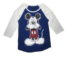 Disney T-shirt Women's Mickey Mouse Front Vintage Baseball Jersey Style