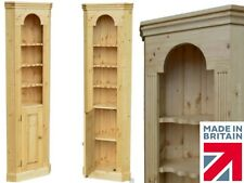 Solid Pine Corner Unit, Traditional Handcrafted Thin Storage Corner Cabinet