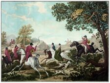 8988.Group of men with horses and dogs on the hunt.POSTER.decor Home Office art