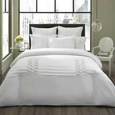 BEAUTIFUL LUXURIOUS ELEGANT WHITE TEXTURED COMFORTER SET KING QUEEN NEW