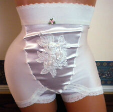 Vintage Design High Waist Girdle Panty With or Without Garters Sz L - 6-X