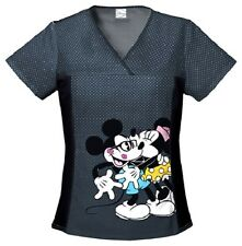 Cherokee Scrubs Smooch Scrub Top 6875CB MNCH Minnie Mouse Smooch