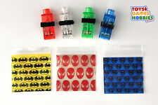 LED Finger Lights Batman Spiderman Superman Superhero Kids Party Favors Ring