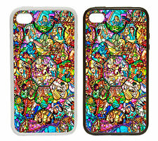 Stained Glass Style Printed Rubber and Plastic Phone Cover Case Disney Inspired