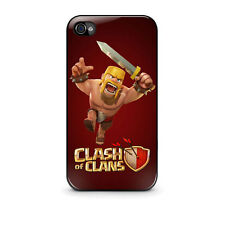 Hot New Clash of Clans Case for Apple Iphone 4, 4s, 5, 5s, 5c, 6 Free Shipping