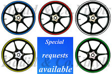 Reflective Motorcycle Vinyl Rim Tape Set for RIMS 10-20in INCLUDE BLACK REFLECT