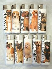 5/10/20/50 PCS DOGS CIGARETTE LIGHTER ELECTRONIC REFILLABLE FULL SIZE WHOLESALE