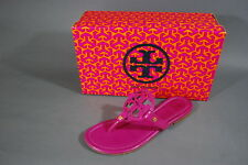Tory Burch Miller Sandals Patent Leather Fuchsia 7.5 NIB