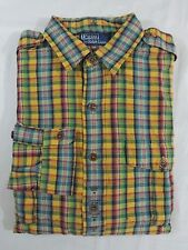 Polo Ralph Lauren Cotton Linen Gingham Custom Fit Plaid Button Shirt M XXL